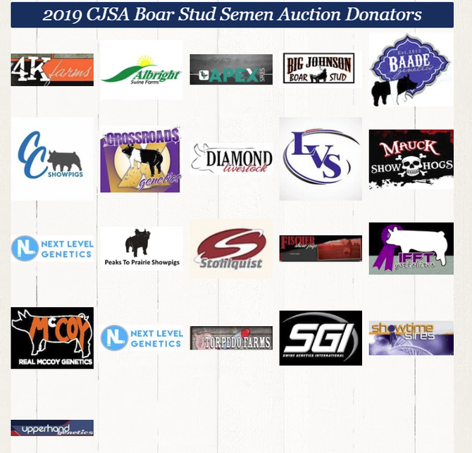 2019 CJSA Boar Stud Auction Fundraiser