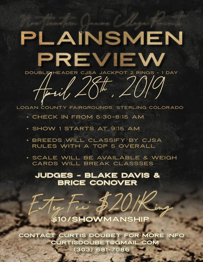 NJC Plainsmen Preview - April 28, 2019