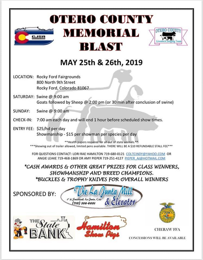 Otero County Memorial Blast - May 25 & 26, 2019