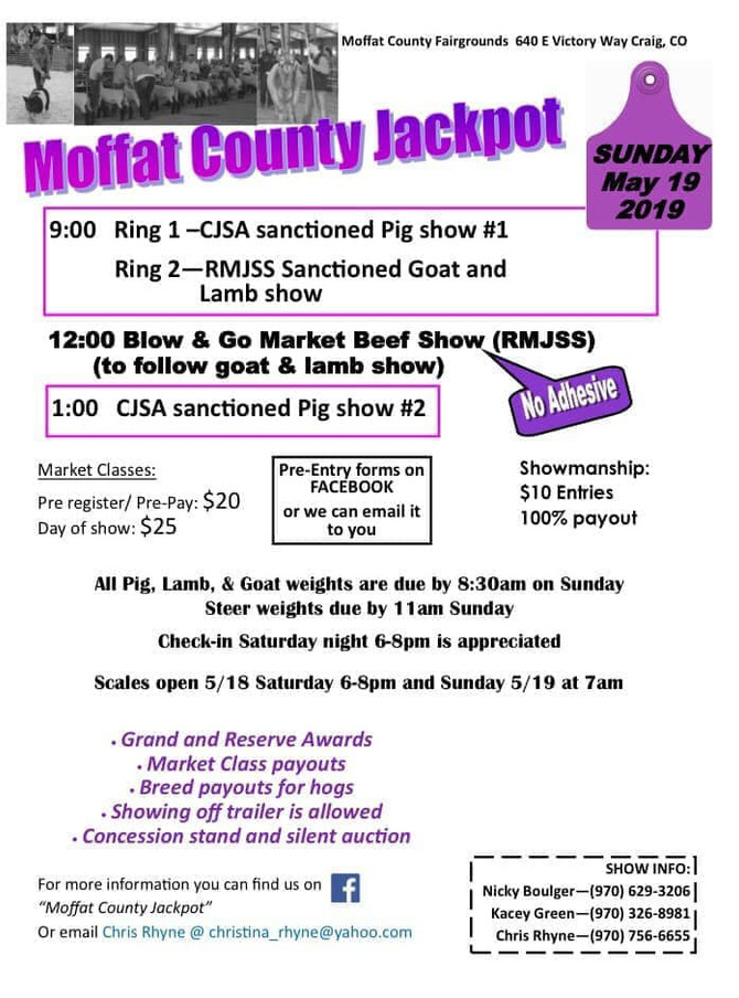 Moffat County Jackpot- May 19, 2019
