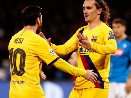 Opinião de Pedro: Barcelona contra Napoli por uma vaga nas quartas da UCL