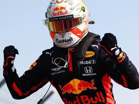 Vitória em equipe com Verstappen no volante, no GP de 70 anos da Fórmula 1