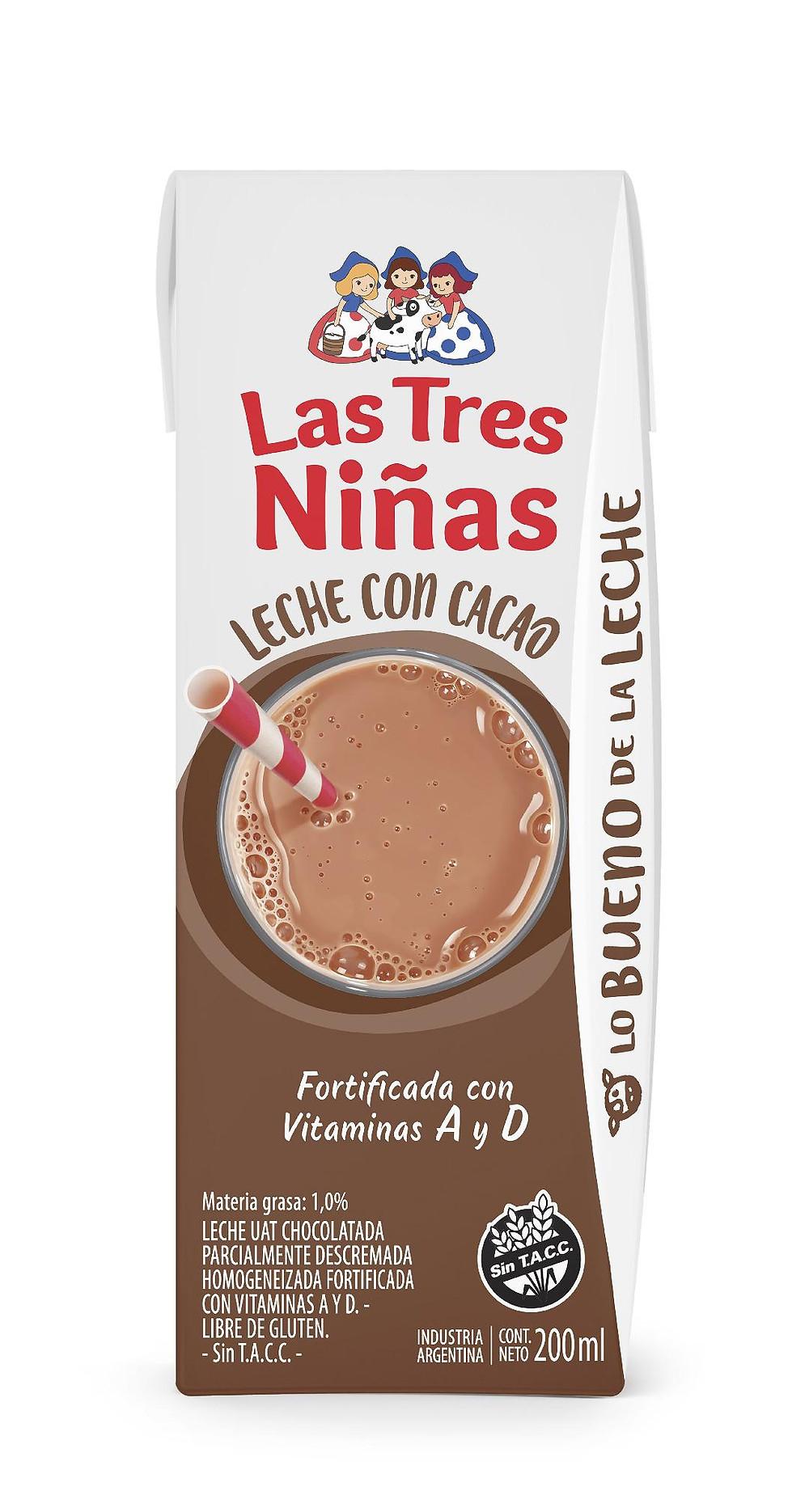 nueva Leche con cacao Las Tres Niñas