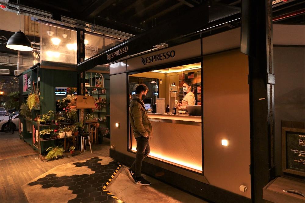 nespresso pop up store