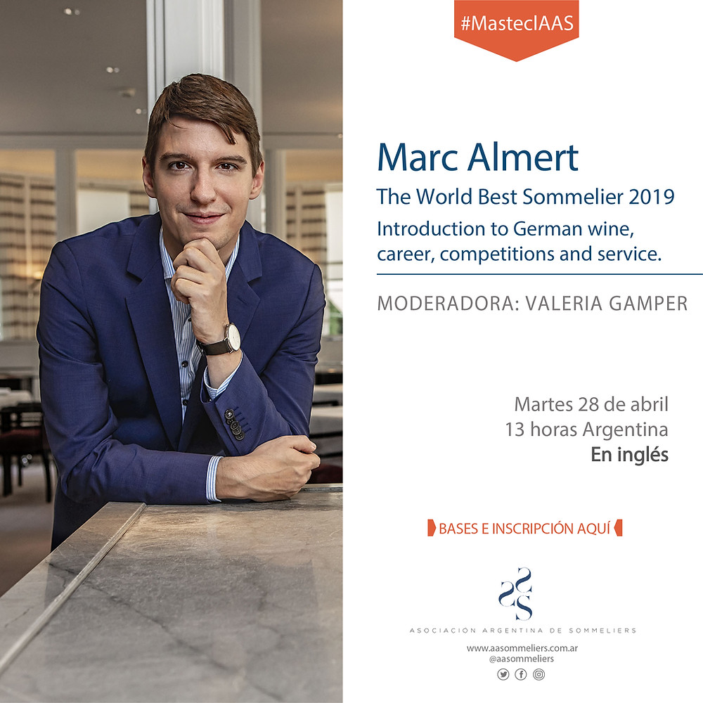 zoom con Marc Almert sommelier