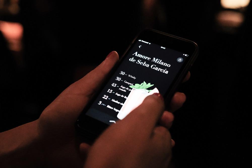 app de coctelería Drinxer