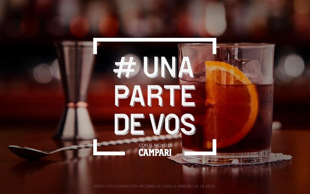 Flyer de la campaña #unapartedevos Campari