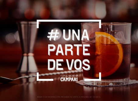 Productos exclusivos de Campari y cocktails envasados en la campaña #UnaParteDeVos