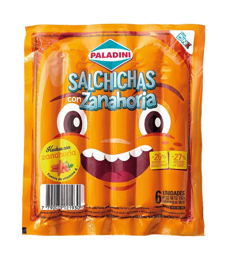 salchichas paladini con zanahori