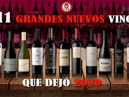 Once grandes nuevos vinos que dejó 2020
