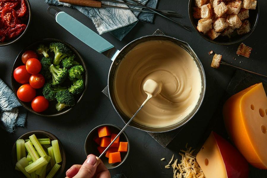 fondue de queso Santa Rosa