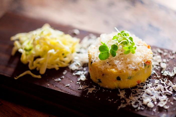 Ensalada de coliflor y Parmigiano Reggiano