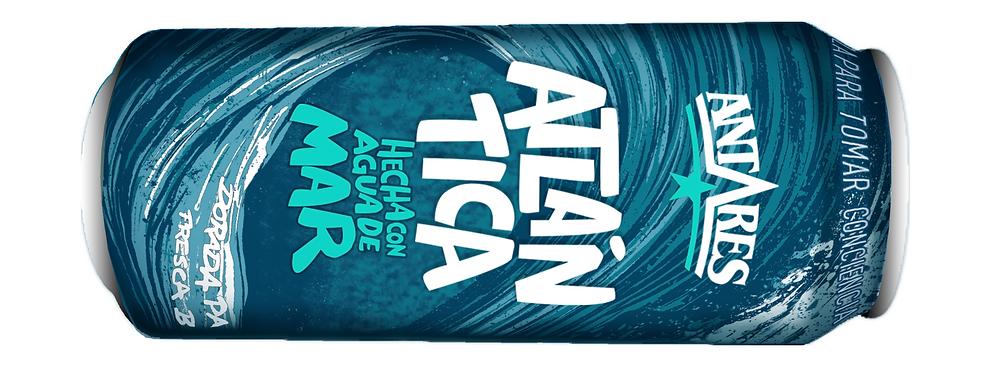 lata de cerveza Antares Atlántica