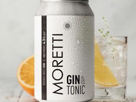 Moretti, un prolijo Gin Tonic en lata listo para tomar