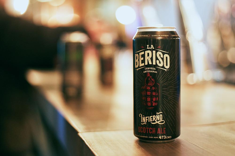 Scotch Ale, una de las 3 variedades de la cerveza de La Beriso
