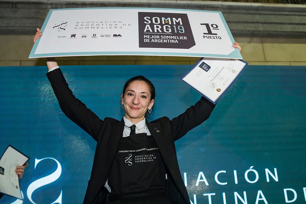 Valeria Gamper, Mejor Sommelier Argentina, Asociación Argentina de Sommelier, Sommelier