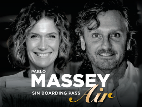 "Última escala del ciclo ""Pablo Massey Air, sin boarding Pass"""