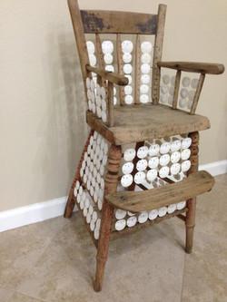 Antigua Small Wooden High Chair Down