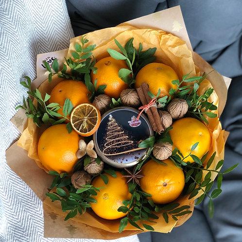 Orangen mit Lebkuchen