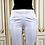 Pantalon Héra blanc satiné, taille haute brodé