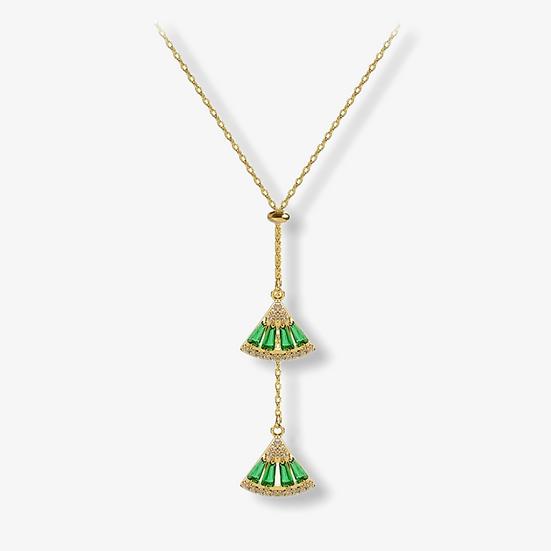 Achetez Collier Anat, pierres verte émeraude