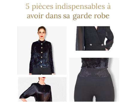 5 pièces indispensables à avoir dans sa garde robe