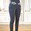 Thumbnail: Pantalon Héra, taille haute gris, ceinture brodée argent