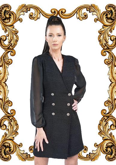 Robe Hind en noir brodée à la taille
