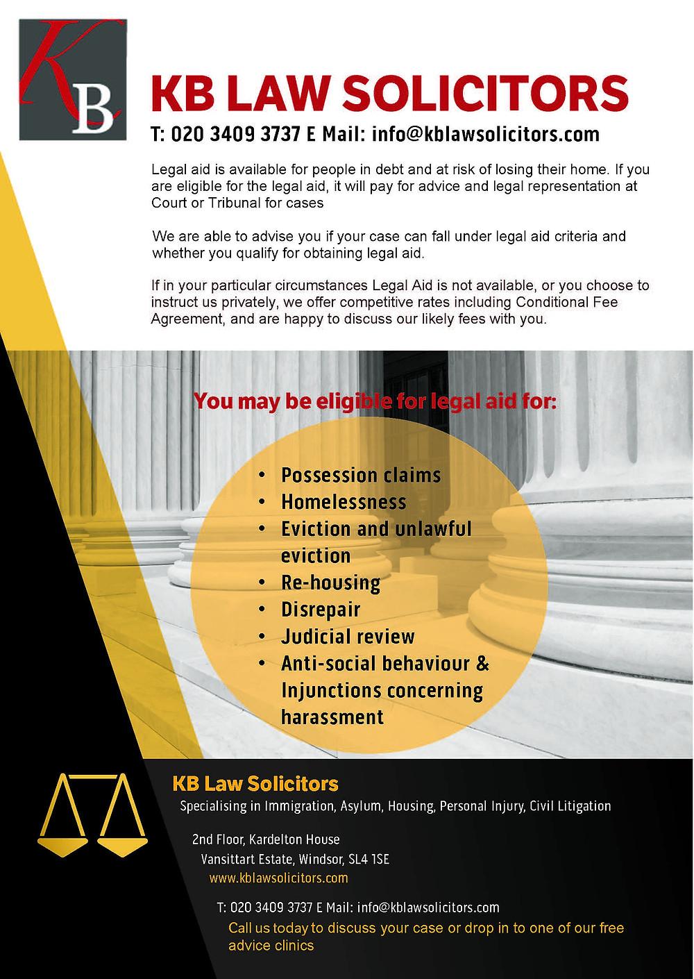 KB Law Housing - Legal aid