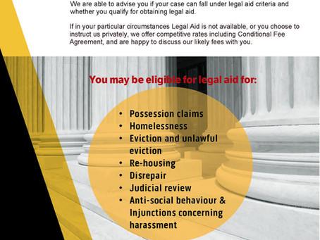 Housing cases under Legal Aid