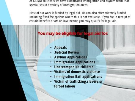 Asylum claims under Legal Aid
