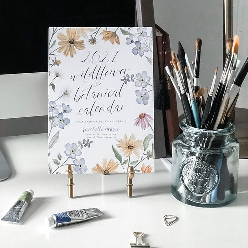 2021 Wildflower Botanical Desk Calendar + Stand