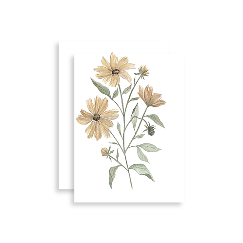 Coreopsis Watercolor Card