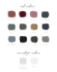 New Color Swatches-Semi-Custom Collectio