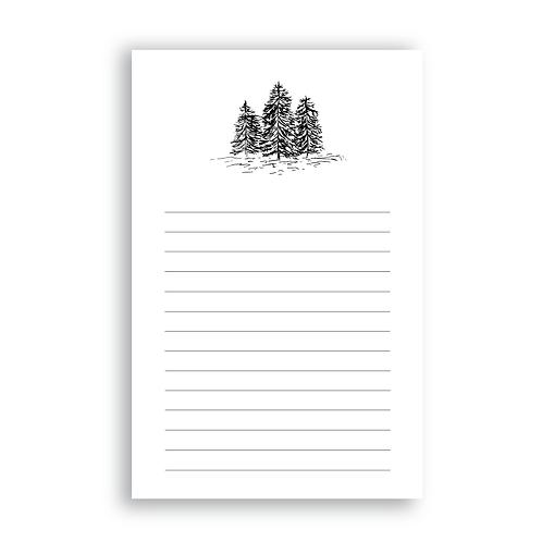 Evergreen Trees Notepad