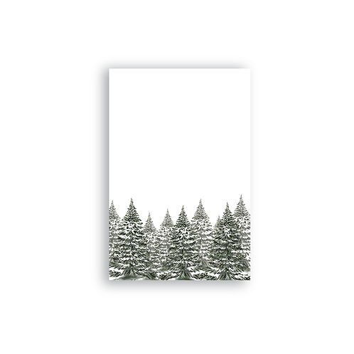 Watercolor Evergreen Trees Notepad