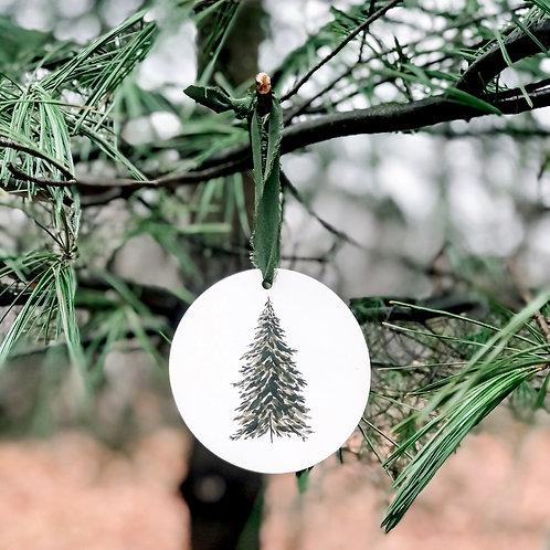 Hand Painted Ceramic Tree Ornament