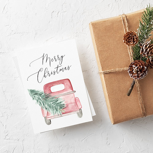 Christmas Tree Truck Holiday Card