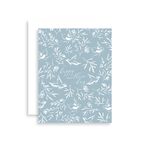 Happy Mother's Day Birds + Floral Card