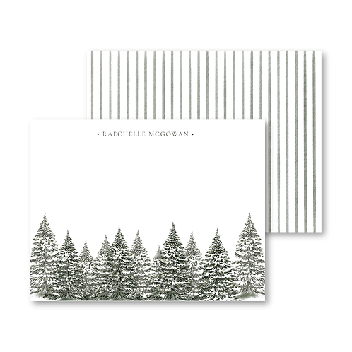 Evergreen Trees Personalized Stationery Set