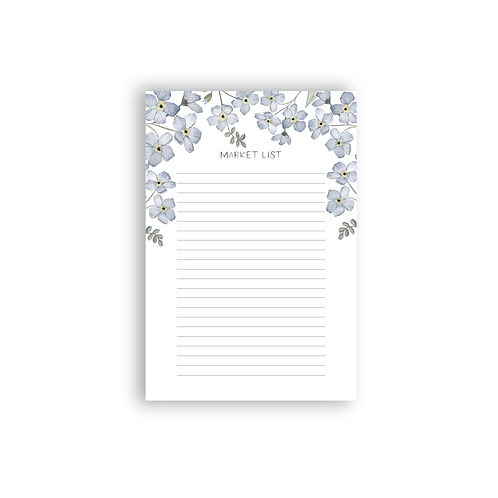 Forget-Me-Not Market List Notepad