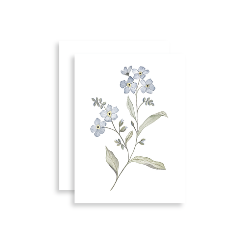 Forget-Me-Not Watercolor Card
