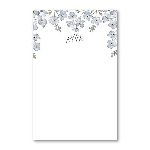 Forget-Me-Not Personalized Notepad