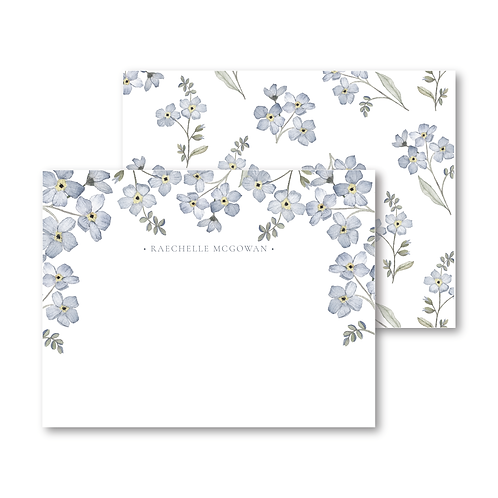 Forget-Me-Not Botanical Personalized Stationery Set