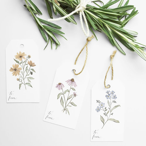 Wildflower Botanical Gift Tags-Assorted 10 Pack