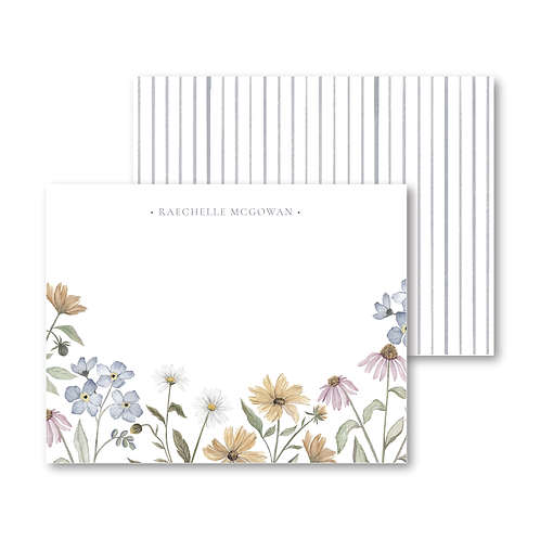 Wildflower Personalized Stationery Set
