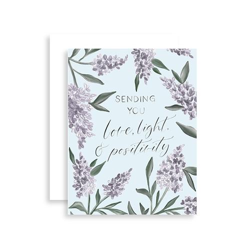Love, Light, + Positivity Card