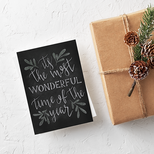 It's the Most Wonderful Time of the Year Chalk Card