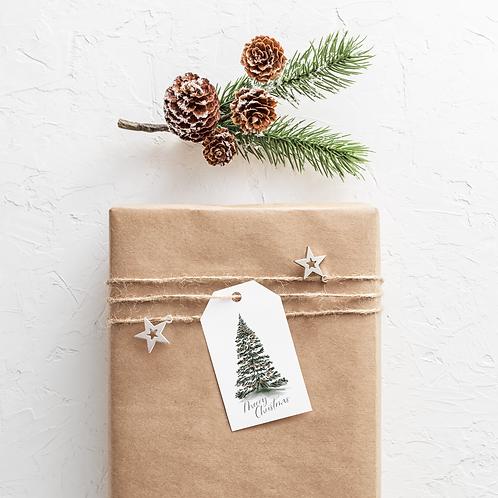 2020 Watercolor Holiday Gift Tag Variety Set