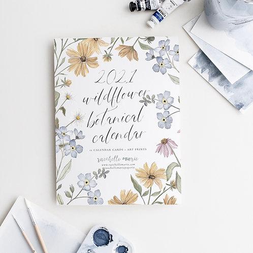 2021 Wildflower Botanical Desk Calendar + Stand
